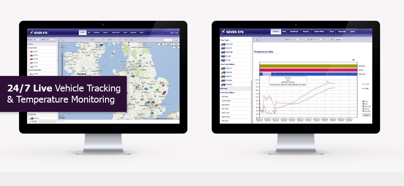 24/7 Live Vehicle Tracking & Temperature Monitoring